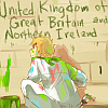 crossesandguns: england painting his name (hetalia: england)