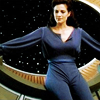 skygiants: Jadzia Dax lounging expansively by a big space window (daxanova)