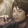 tinny: SPN Kevin holding a pencil (spn_kevin pencil textless)