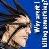 telophase: (Kenpachi - killing something?)