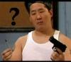 jinian: (gun or pen?)
