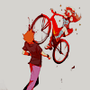 leadergreen: Leaf crashing her bike into Green's face (And hurt)