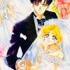 ladylunas: usagi and mamoru at their wedding (usagi/mamoru)