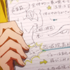 swimming_anime: somebody brandishing a piece of paper that's covered in writing (have u seen this shit)