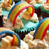 squeakycat: Rainbows on Cupcakes (Rainbow Cupcakes)
