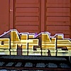 omens: (misc - train graffiti)