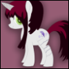 childhoodreclaimed: Self-Pony in the style of My Little Pony Friendship Is Magic.  Pony's cutie mark is of a feather quill, with ink. (pony, writer)