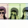 snickfic: [Hawkeye] Kate looking over the top of her sunglasses (Kate)