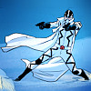 snickfic: [A+X] Fantomex shooting across the snow (Fantomex)