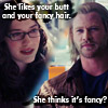 shatteredshards: Jane likes Thor's butt and his fancy hair (fancy hair)