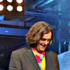 onceamy: [Top Gear] James May, in his rainbow shirt. *glee* He's smiling, face down, at something. (James-1)