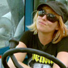 eruthros: Kari from Mythbusters driving construction equipment (Mythbusters - Kari is awesome)