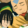 eruthros: Toph, Aang, and Momo from Avatar: TLA hugging Sokka (Avatar - group hug!)