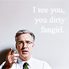 "kshandra: Keith Olbermann, pointing at the camera; caption: ""I see you, you dirty fangirl"" (Keith - Dirty Fangirl)"