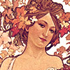 "loffyglu: A portrait view of Alphonse Mucha's ""Moët et Chandon"" (Champagne White Star) (Moët et Chandon)"