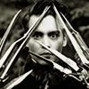 outlineofash: Edward Scissorhands peering through his scissor-hands. (Media - Scissorhands)