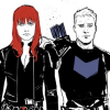 misbegotten: Natasha and Clint comicverse (Marvel Black Widow & Hawkeye)
