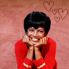 nenya_kanadka: Uhura with hearts and smiles (@ Uhura hearts)