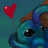 nenya_kanadka: blue tentacle monster with a heart above head (@ Lemon the Tentacle Monster)