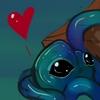nenya_kanadka: blue tentacle monster with a heart above head (@ Lemon the Tentacle Monster)