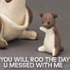 "nenya_kanadka: toy kangaroo joey with its mama: ""You will roo the day u messed with me"" (@ Roo the day)"