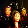 "nenya_kanadka: Sheridan, Delenn, Sinclair captioned ""all is 3"" (B5 Jeff/John/Delenn OT3)"