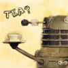 silveronthetree: Dalek bearing a cup of tea (Default)