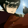 whitelotusmods: Mai from Avatar: TLA mid-fight, with sunlight glinting off her shuriken (Mai with shuriken)