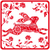 whitelotusmods: a red image of a leaping rabbit (red rabbit (2011))