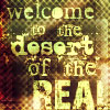 "abouthalfthree: ""Welcome to the Desert of the Real."" (Desert of the Real)"