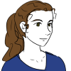 aldersprig: drawing of the author (LynLyn)
