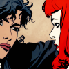 radioactivepiss: Kate Kane and Renee Montoya looking at each other ([Kate/Renee] stare)