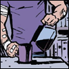 shatteredshards: stop wasting that coffee, Clint (hawk pour)