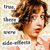 chatananas: Kristen Schaal says there were side-effects (Oops: Kristen side effects)