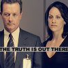 "ruuger: John Doggett and Monica Reyes from The X-Files with the text: ""The truth is out there"" (Doggett & Reyes - Truth is out there)"