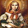 vaalea: Portrait of saint Dymphna, a bit darkened to be more iconic. (Patrons ~ Saint Dymphna)