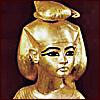 vaalea: Statue of Serqet, facing up front. (Kemet ~ Serqet)