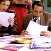 ar: Kay and Julius Eaton reading a manuscript. (ds9 - farverse reading)
