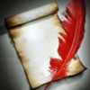 pseudonymph: (Red feather quill)