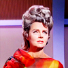 rhivolution: Lady Amanda Grayson from Star Trek TOS, looking upwards (watching the skies: the Lady Amanda (TOS)
