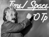 spiralsheep: Einstein writing Time / Space OTP on a blackboard (fridgepunk Time / Space OTP)
