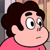 buzzy: Steven Universe from the show of the same name with a rather neutral facial expression (Steven Universe 1)