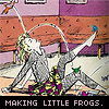 nonelvis: (SANDMAN making little frogs)