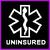 acelightning: white MedicAlert symbol on black rubber bracelet (uninsured)