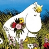 laughingrat: A little round creature picks flowers in a summer field. (Snork Maiden)