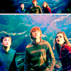 scrollgirl: harry, ron, and hermione in the forest (hp trio)