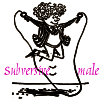 oursin: Picture of Fotherington-Tomas skipping, with words subversive male added (Subversive male)