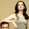 misbegotten: Anne Hathaway towers over Steve Carell (RP Anne Hathaway & Steve Carell)