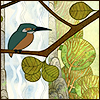 adair: bird near a waterfall (Kells bird)