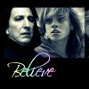 """kerravonsen: Snape, Hermione: """"Believe"""" (Snape-Hermione, believe)"""